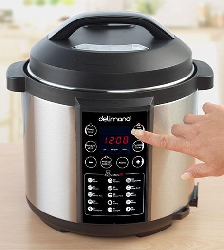 Delimano Electric Pressure Multicooker Pro 5.5l